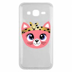 Чехол для Samsung J5 2015 Cat pink