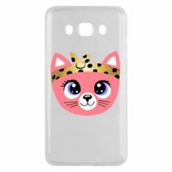 Чехол для Samsung J5 2016 Cat pink