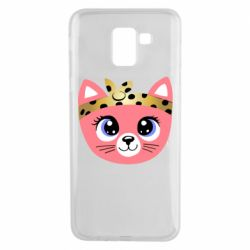 Чехол для Samsung J6 Cat pink