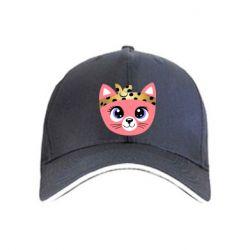 Кепка Cat pink