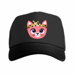 Кепка-тракер Cat pink