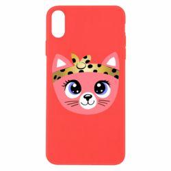 Чехол для iPhone Xs Max Cat pink
