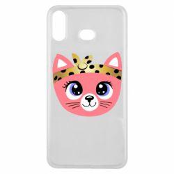 Чехол для Samsung A6s Cat pink