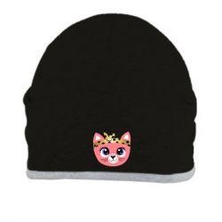 Шапка Cat pink