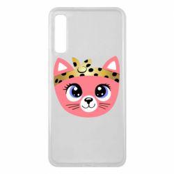 Чехол для Samsung A7 2018 Cat pink