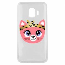 Чехол для Samsung J2 Core Cat pink