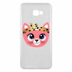 Чехол для Samsung J4 Plus 2018 Cat pink