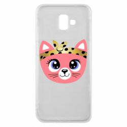 Чехол для Samsung J6 Plus 2018 Cat pink