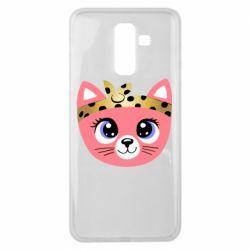 Чехол для Samsung J8 2018 Cat pink