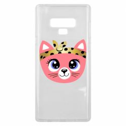 Чехол для Samsung Note 9 Cat pink
