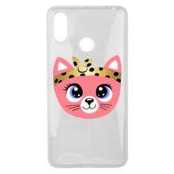 Чехол для Xiaomi Mi Max 3 Cat pink