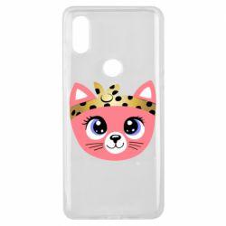 Чехол для Xiaomi Mi Mix 3 Cat pink