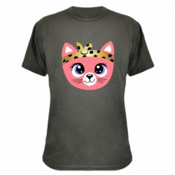 Камуфляжная футболка Cat pink