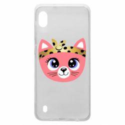 Чехол для Samsung A10 Cat pink