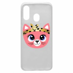 Чехол для Samsung A40 Cat pink