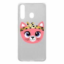 Чехол для Samsung A60 Cat pink