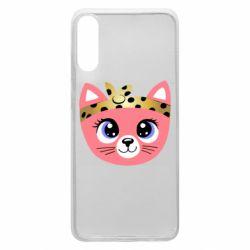 Чехол для Samsung A70 Cat pink