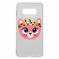 Чехол для Samsung S10e Cat pink