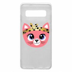 Чехол для Samsung S10 Cat pink