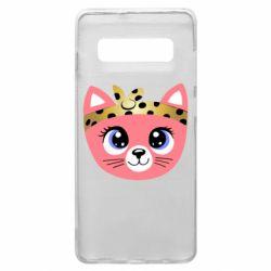 Чехол для Samsung S10+ Cat pink