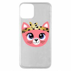 Чехол для iPhone 11 Cat pink