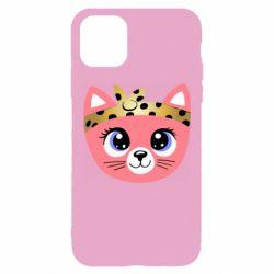Чехол для iPhone 11 Pro Max Cat pink