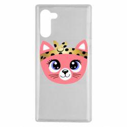 Чехол для Samsung Note 10 Cat pink