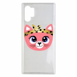 Чехол для Samsung Note 10 Plus Cat pink