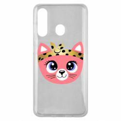 Чехол для Samsung M40 Cat pink