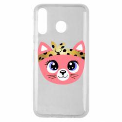 Чехол для Samsung M30 Cat pink