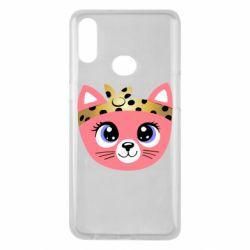 Чехол для Samsung A10s Cat pink