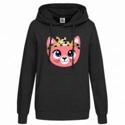 Женская толстовка Cat pink