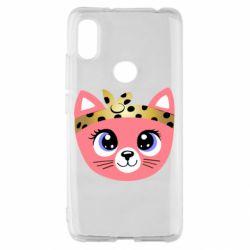 Чехол для Xiaomi Redmi S2 Cat pink
