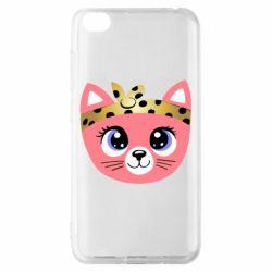 Чехол для Xiaomi Redmi Go Cat pink