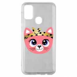 Чехол для Samsung M30s Cat pink