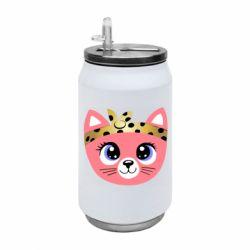 Термобанка 350ml Cat pink