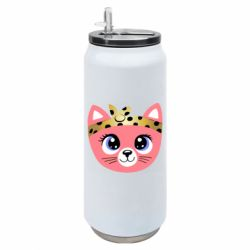 Термобанка 500ml Cat pink