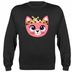 Реглан (свитшот) Cat pink