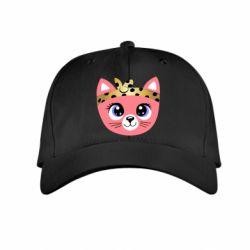 Детская кепка Cat pink