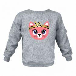 Детский реглан (свитшот) Cat pink