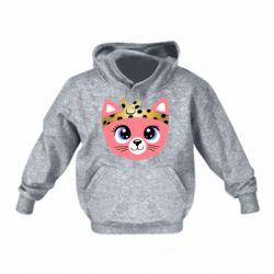 Детская толстовка Cat pink