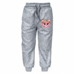 Детские штаны Cat pink