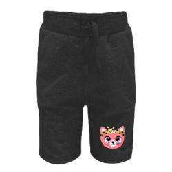 Детские шорты Cat pink