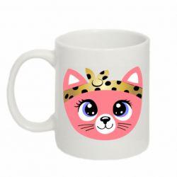 Кружка 320ml Cat pink