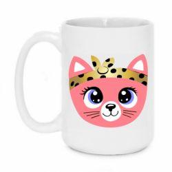 Кружка 420ml Cat pink