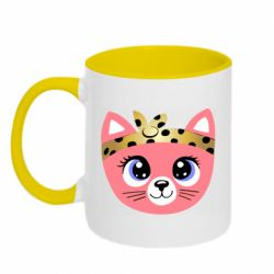 Кружка двухцветная 320ml Cat pink