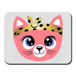 Коврик для мыши Cat pink