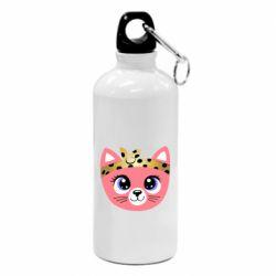 Фляга Cat pink