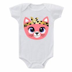 Детский бодик Cat pink
