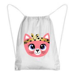 Рюкзак-мешок Cat pink